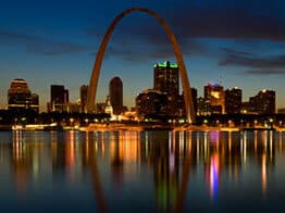 The Gateway To The West in St. Louis, Missouri