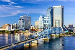 Jacksonville, FL downtown city skyline