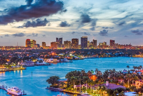 Fort Lauderdale Florida skyline