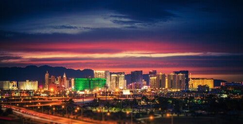 Las Vegas hotels at night