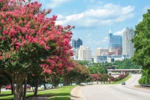 Raleigh North Carolina view of downtown
